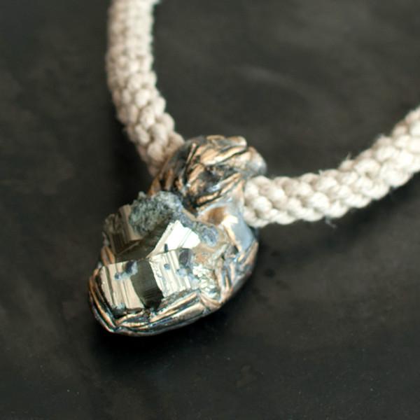 Adina Mills Pyrite Cluster Pendant Necklace