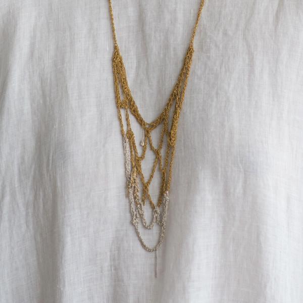 Arielle De Pinto Web Necklace - SOLD OUT