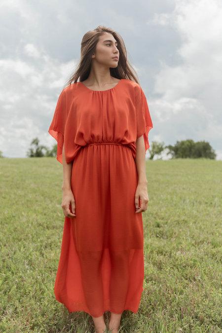 Just Female Largit Maxi Dress - Burnt Orange