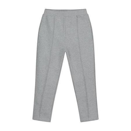 kids gray label slim fit trousers - grey melange