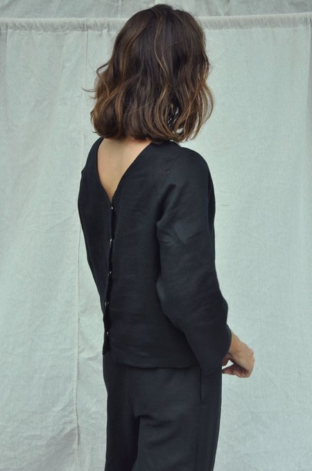 Mimi Holvast Snap Top - Black
