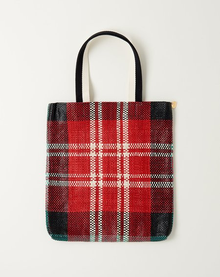Clare V. Carryall - Red Plaid Woven