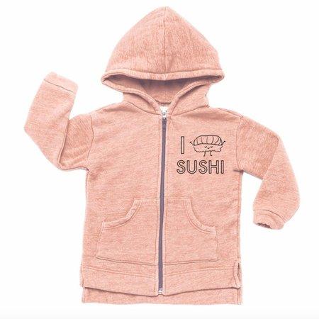 Kira Kids I Love Sushi Hoodie - pink