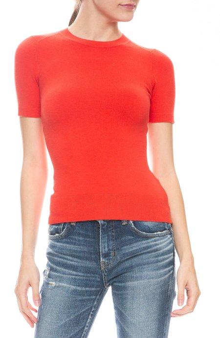JOOSTRICOT Stretch Neck T-Shirt - Fire Poppy
