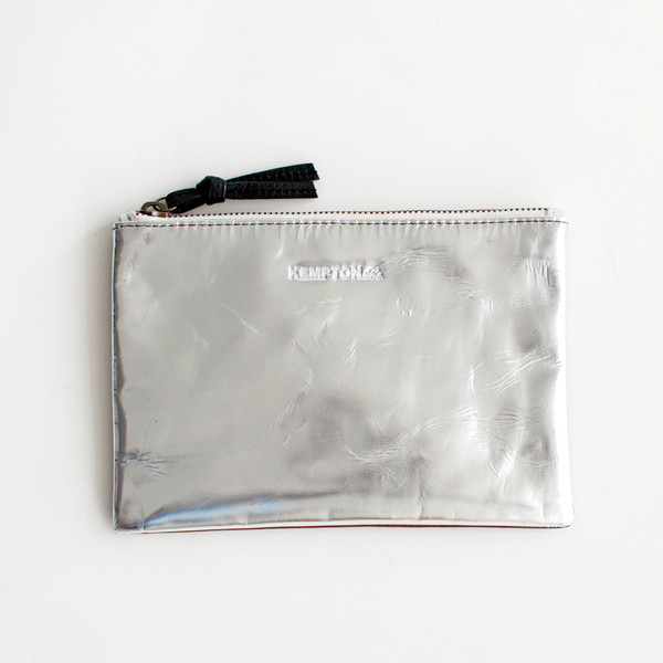 Kempton & Co Camden Pouch Mirror Silver