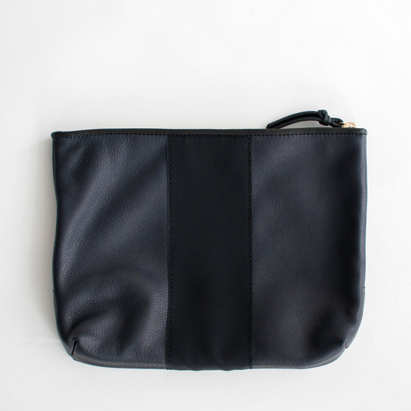 Kempton & Co Grosgrain Pouch Navy
