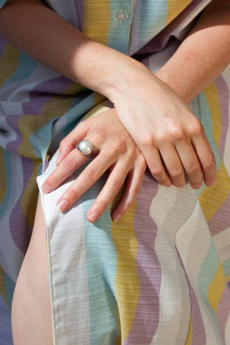 FARIS Bamini Ring - Sterling Silver/Mabe Pearl