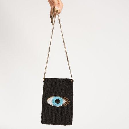 Guadalupe Evil Eye Crossbody Bag - Black