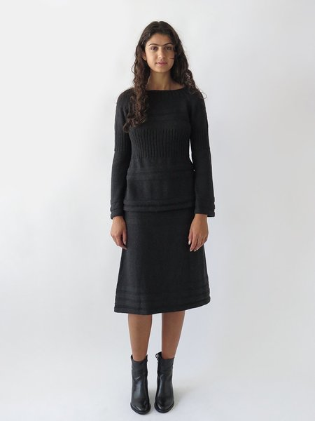 Erica Tanov texture skirt - charcoal