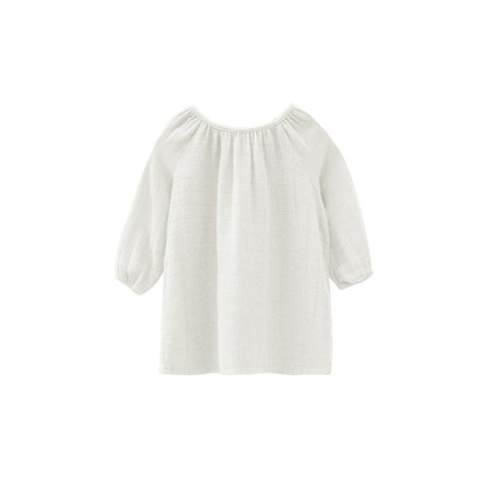 Go Gently Nation Quilted Gauze Baby Dress - White