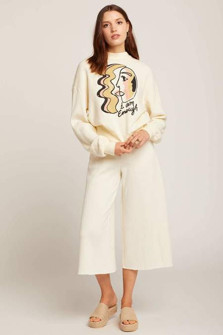 Dazey LA Enough Sweater - Creme