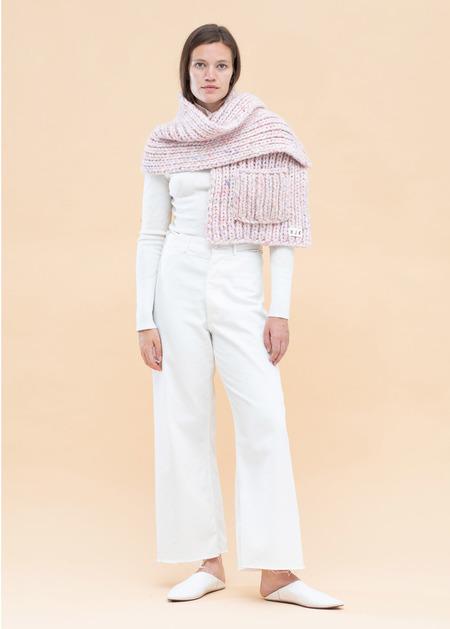 HJK Mary Hand Knit Wrap with Pocket