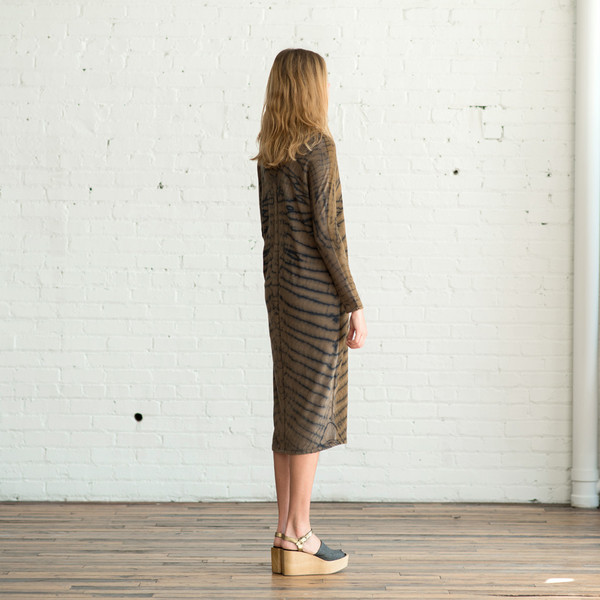 Raquel Allegra Signature Jersey Long Sleeve V Neck Dress - SOLD OUT