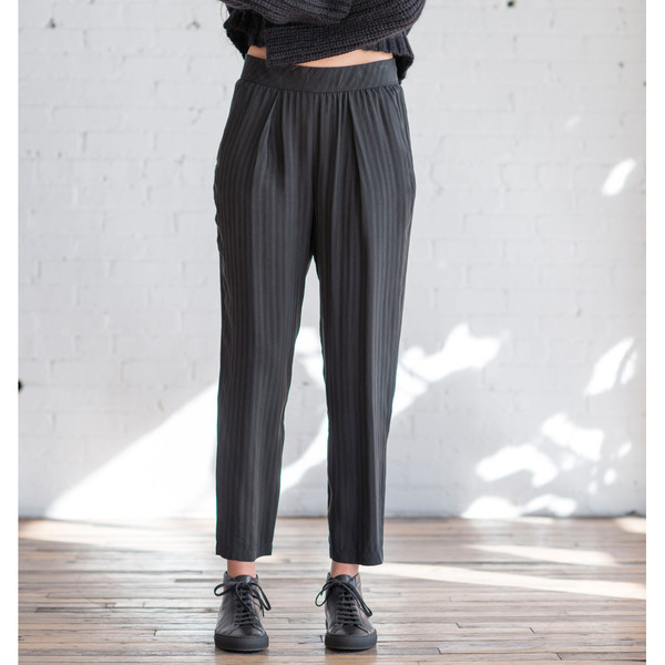 Raquel Allegra Washed Shadow Stripe Easy Pant - SOLD OUT