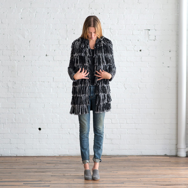 Tess Giberson Knit Fringe Coat - SOLD OUT