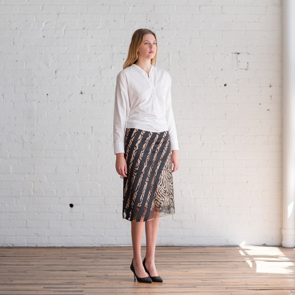 Tome Tiger Stripe Lace Skirt