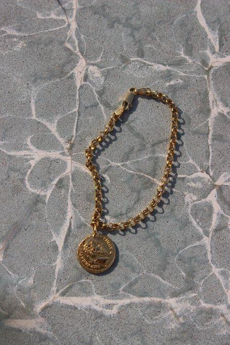 Pamela Card veritas aequitas heritage bracelet - 24K Gold Vermeil