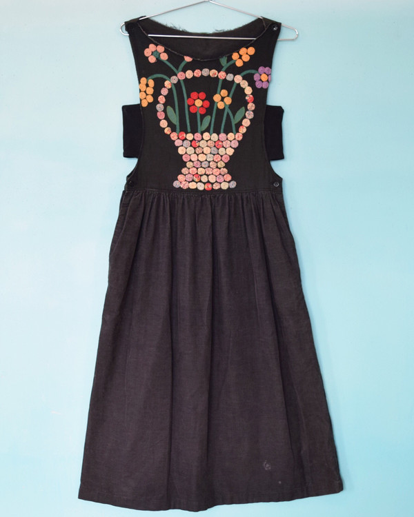 Flower Embroidered Pinafore Dress