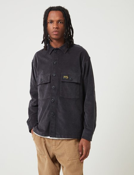 Stan Ray Cord CPO Shirt - Navy Blue