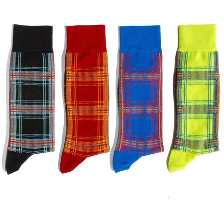 Unisex N/A ALL PLAID  ALL THE TIME 4 PACK Socks - Muti