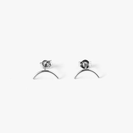 Giantlion Mini Arc Earrings in Sterling Silver
