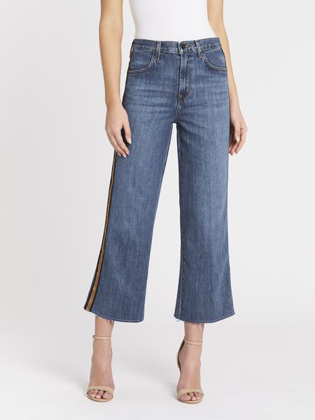 J Brand Joan High Rise Crop Jean - Mid Denim