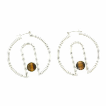 Artifacts Archway Hoops - Sterling Silver