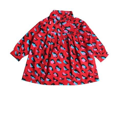 Kids Romey Loves Lulu Bow Dress - Animal Print