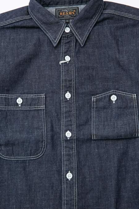 Beams Plus Work Denim Shirt - Indigo