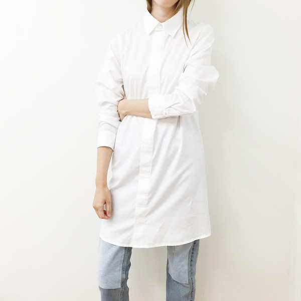 Shelby Steiner Button Down Shirt Dress