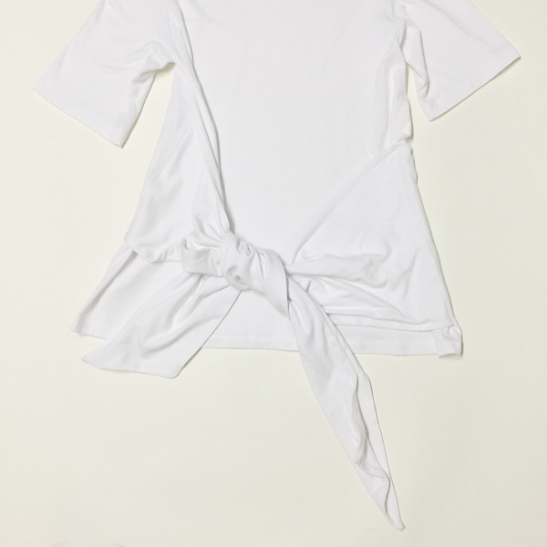 Shelby Steiner White Tie Top