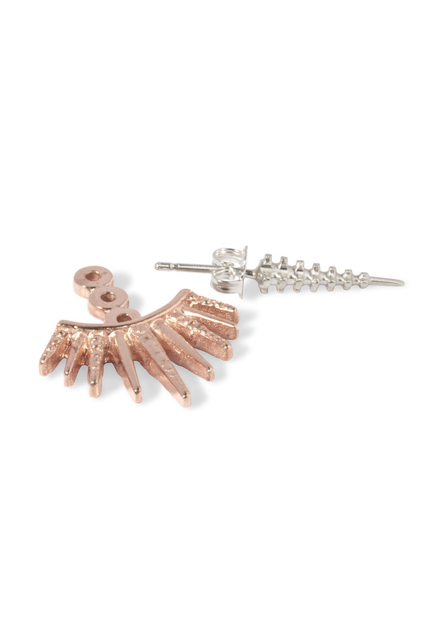Slight Jewelry Deco Hang and Spike in 14K Rose Gold Plated Brass