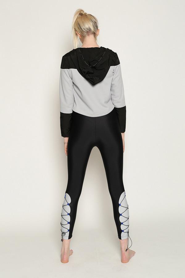 Chromat Grand Prix Jacket in Grey/Black