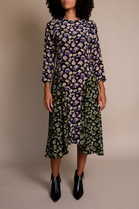 No.6 Selma Dress - Black Primrose