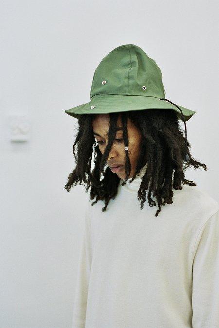 Nicholas Daley Hancock Rubberized Safari Hat - Olive Green