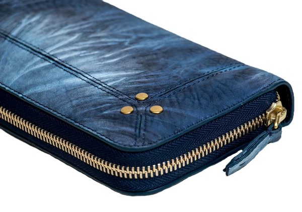 Jerome Dreyfuss Malcom Wallet - Blue Tie Dye