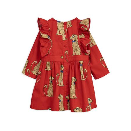 KIDS mini rodini spaniels woven ruffled dress - red