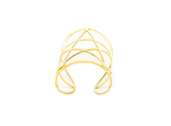 Pamela Love Mini Pentagram Cuff - Brass