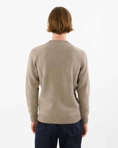 Country of Origin Staple Lambswool Crew sweater - Mushroom