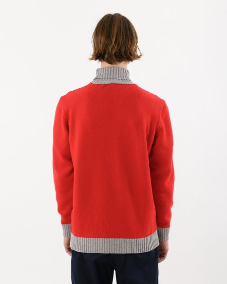 Country of Origin Turtle Contrast Lambswool sweater - Red