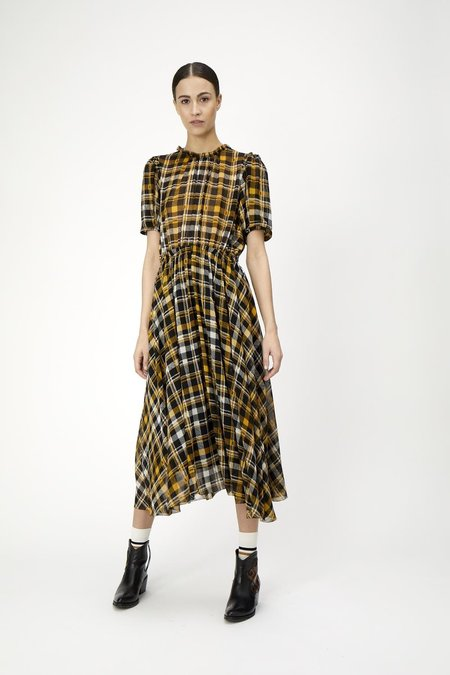 JUST FEMALE Brix Dress - Checked