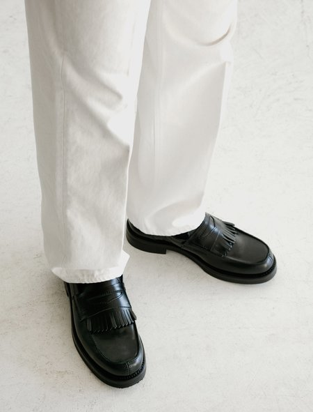Our Legacy Leather Loafer - Black