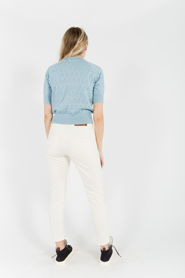 You Must Create Drop Lace Cropped Knit