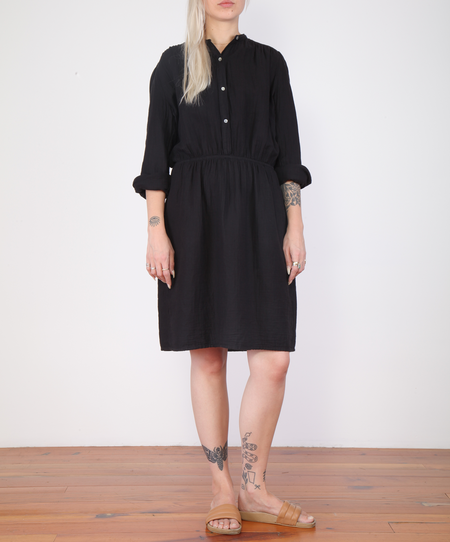 Hartford Roche Long Sleeve Gauze Dress - Black