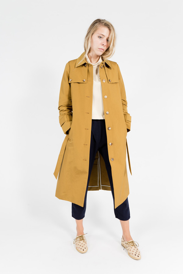 Trademark Faux Fur Trench