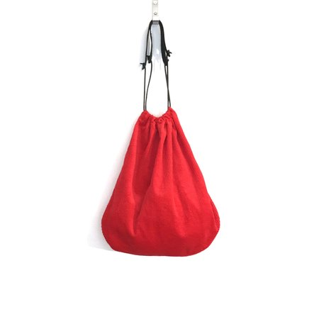 Erin Templeton Corduroy Grocery Tote - Red