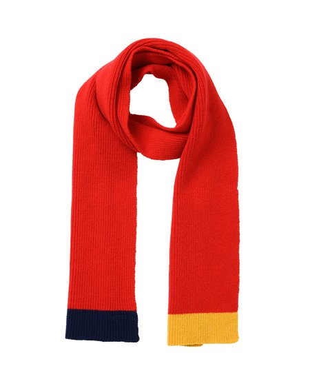 Country of Origin Contrast Tip Lambswool Scarf