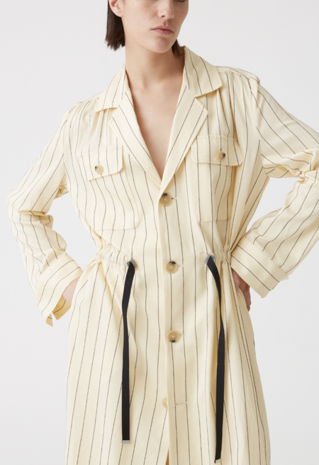Hope Port Coat - Creme Stripe