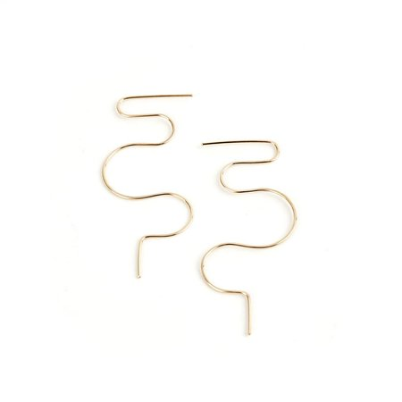 Minoux Squiggle Earrings - Gold