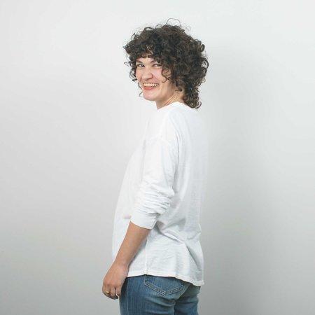 Unisex Jungmaven Atwater Long Sleeve Tee - Optic White